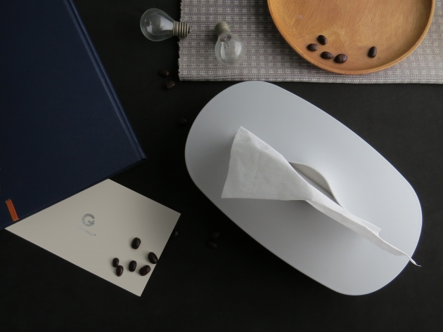 Flexible Tissue Box - Cream Gray 10