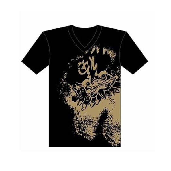 台南文化T恤-府城尋蹟-安平劍獅 (男女適用版) 黑/白 1