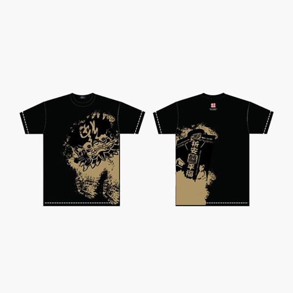 台南文化T恤-府城尋蹟-安平劍獅 (男女適用版) 黑/白 3