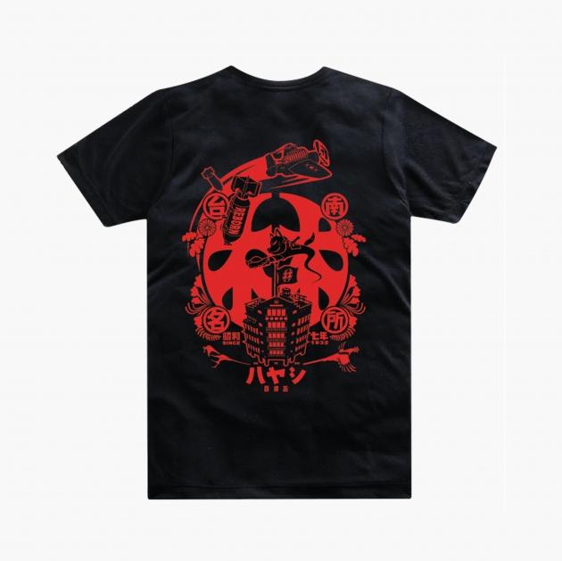 林百貨日本稻荷神社款式紀念T恤 (男女適用版) 白/黑 4