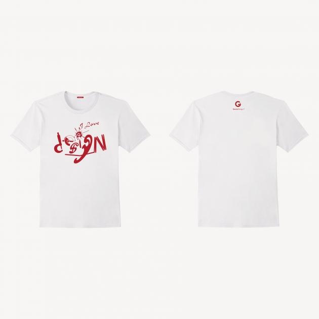 愛設計文創T恤 (男女適用版) 白/藏青/紅 1