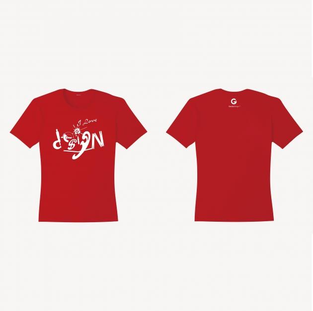 愛設計文創T恤 (女性適用版) 紅/白/藏青 1