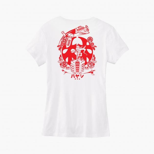 林百貨日本稻荷神社款式紀念T恤 (女性適用版) 白/黑 3