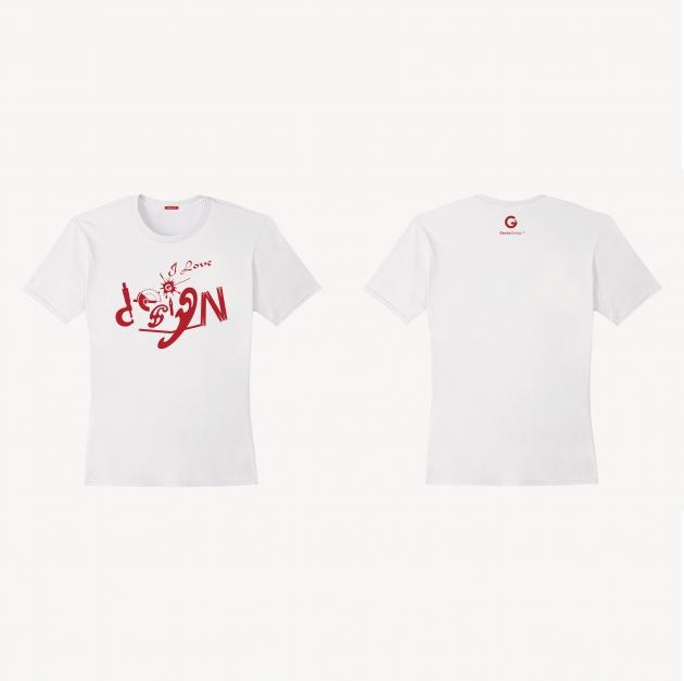愛設計文創T恤 (女性適用版) 紅/白/藏青 2