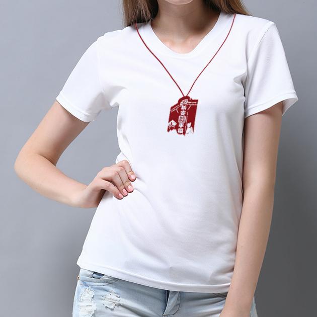 台南文化T恤-府城尋蹟-祈福平安 (男女適用版) 白/黑 4