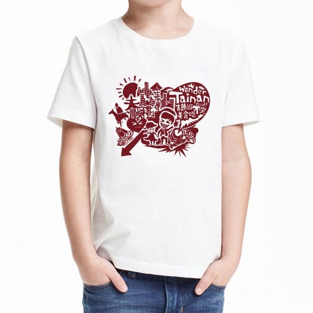 台南文化T恤-府城尋蹟-我愛台南 (男女適用版&童裝版) 白 9