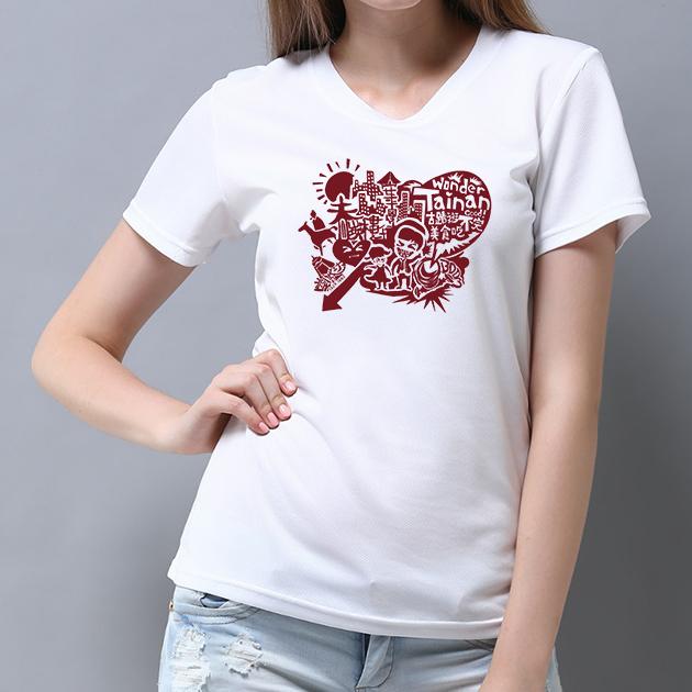 台南文化T恤-府城尋蹟-我愛台南 (男女適用版&童裝版) 白 7