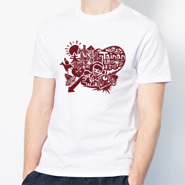 台南文化T恤-府城尋蹟-我愛台南 (男女適用版&童裝版) 白 8