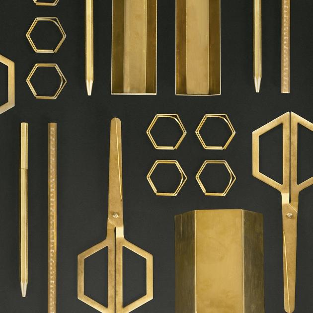 DOIY 六角黃銅系列文具-剪刀 2