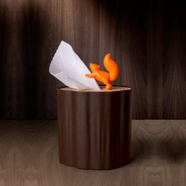 QUALY 松鼠愛森林-捲筒衛生紙盒 3
