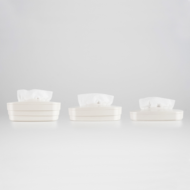 Flexible Tissue Box - Vanilla White 4