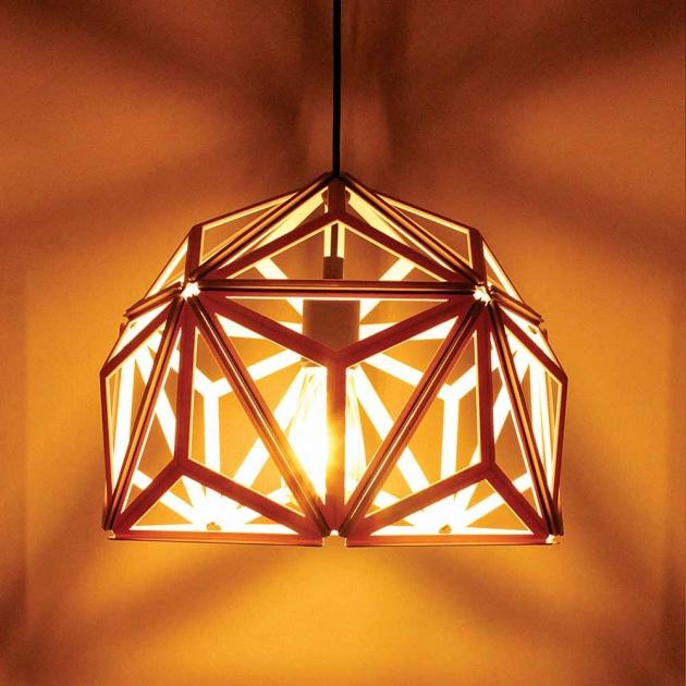 QUALY 三角幾何-鏤空燈罩 (2色) 6