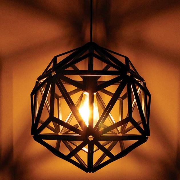 QUALY 三角幾何-鏤空燈罩 (2色) 7