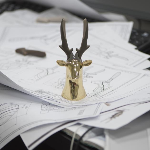 iThinking Dear deer II 座款 斜口鉗-亮面金 5