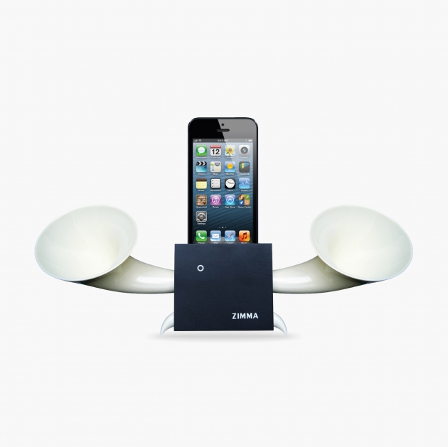 ZIMMA Horn Stand Speaker Black+White   For iPhone SE/5S/4S(NO FOR iPhone 6~X & Android used) 1